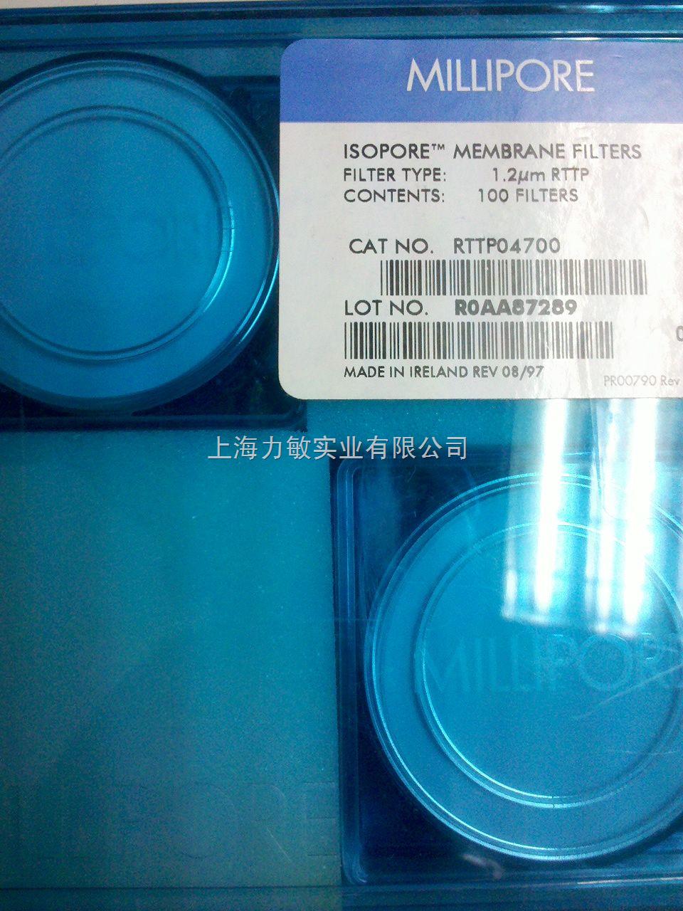 Millipore Isopore 表面滤膜聚碳酸酯rttp04700