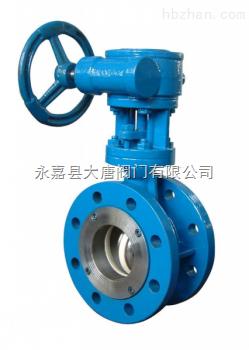 大唐陶瓷阀供应D343TC蜗轮传动陶瓷蝶阀