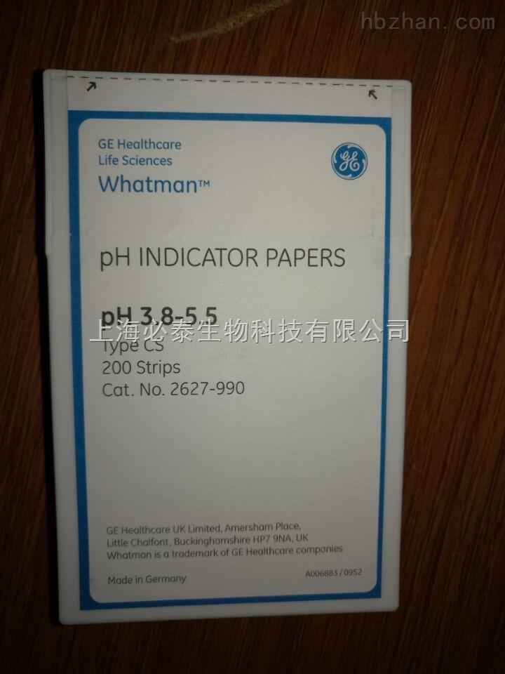 whatmanPH测试纸 PH3.8-5.5 whatman2627-990