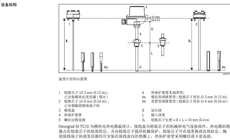 e h 热电偶(tc) 温度计,e h一体式温度变送器