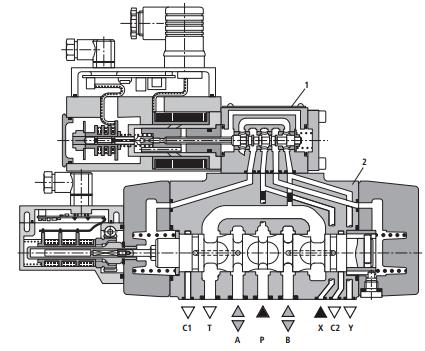 三位四通电磁阀接线图