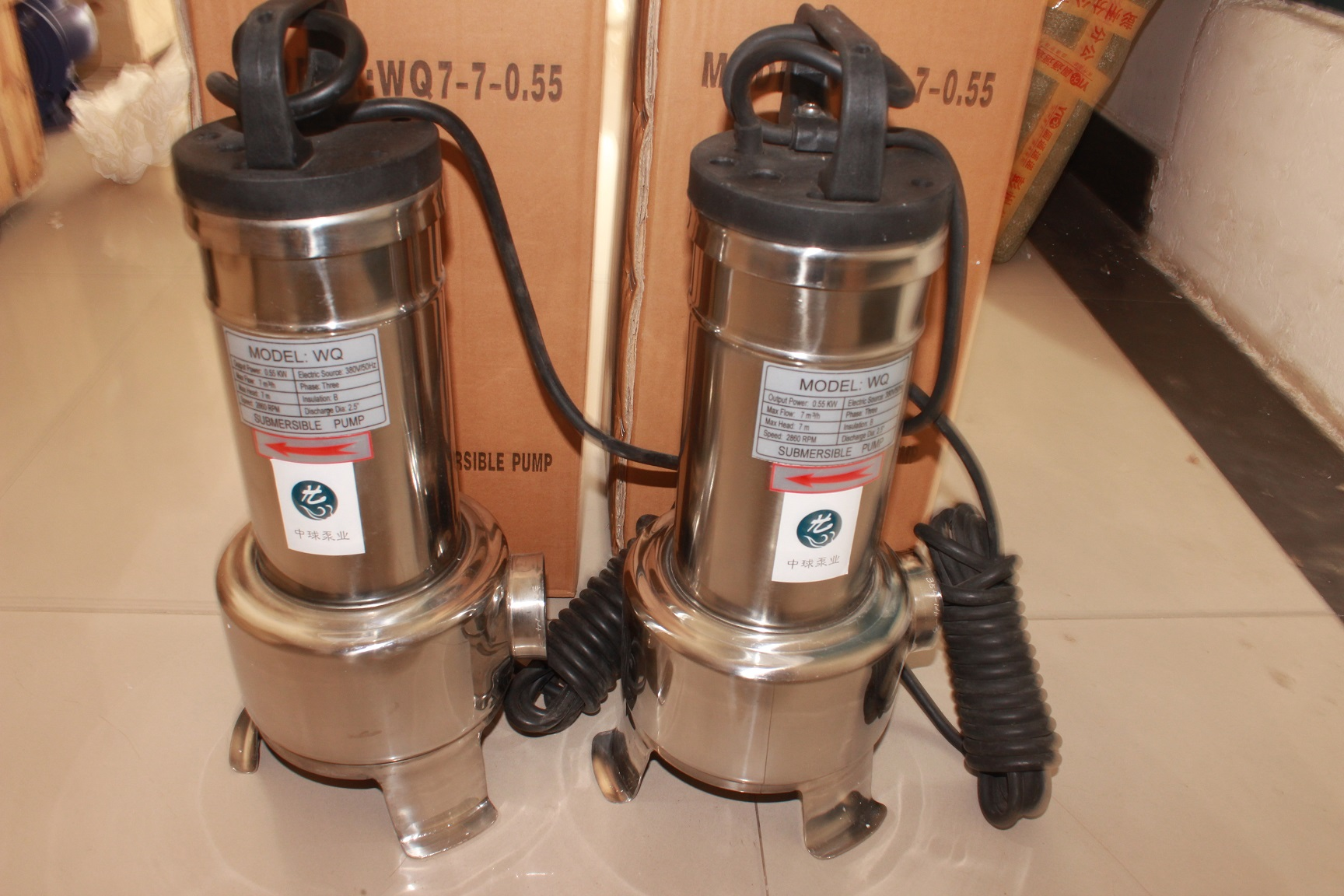 wq30-36-5.5不锈钢潜水排污泵