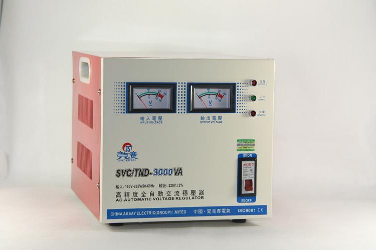 单相3千瓦稳压器tnd tns 3kva稳压电源 空调家用稳压器