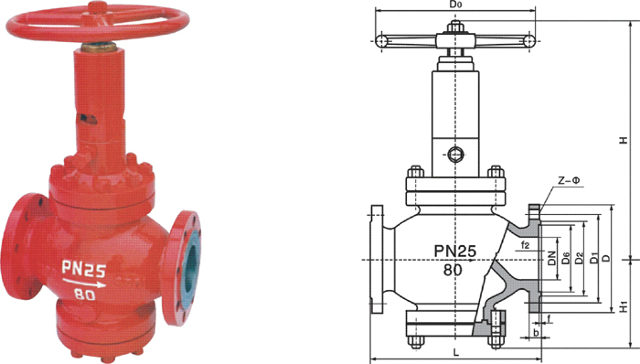 fj41h型节流截止放空阀结构图