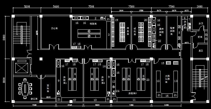 简单化学仪器手绘平面图