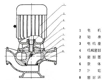 GW管道排汙泵結構圖