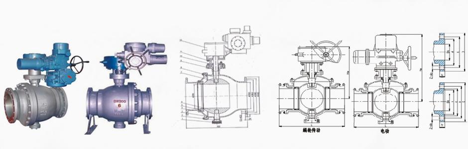 电动喷煤粉球阀结构图